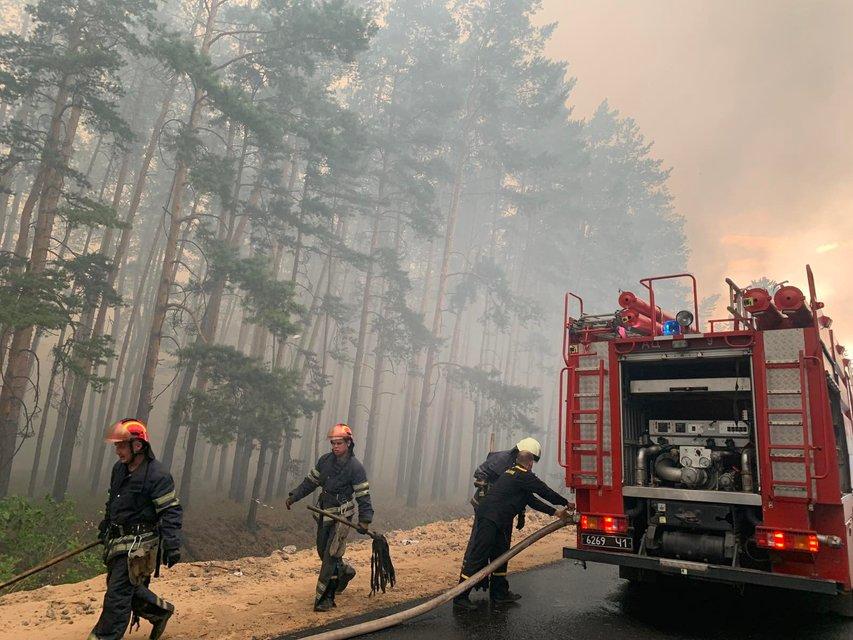 На Луганщине бушуют лесные пожары, идет срочная эвакуация  – ФОТО - фото 202414