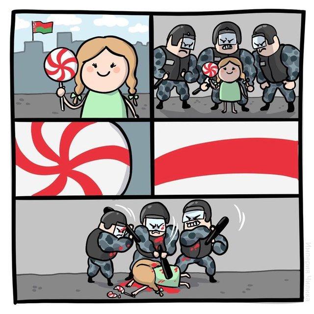 Протесты в Беларуси: Реакция сети – ФОТО - фото 203807