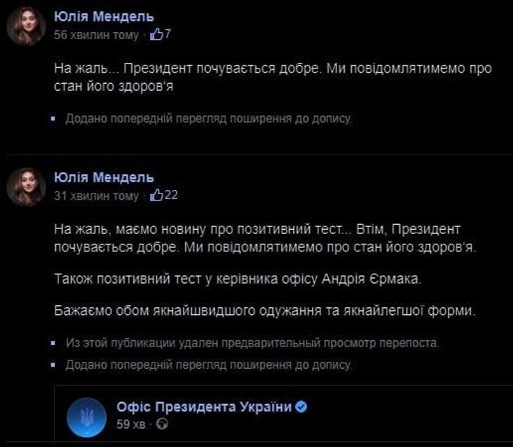 Президент Зеленский и глава его Офиса Ермак заболели коронавирусом - фото 206292
