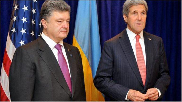 Петр Порошенко и Джон Керри провели успешные переговоры в Киеве. - фото 1