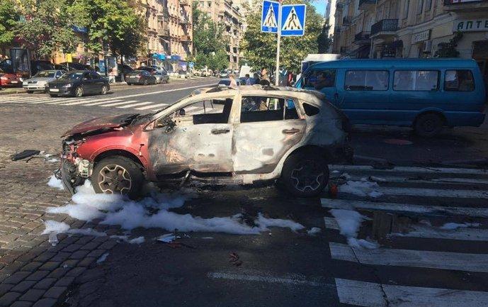 Фото взорванной машины  - фото 1