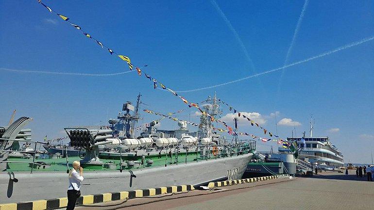 Морякам устроили авиашоу - фото 1