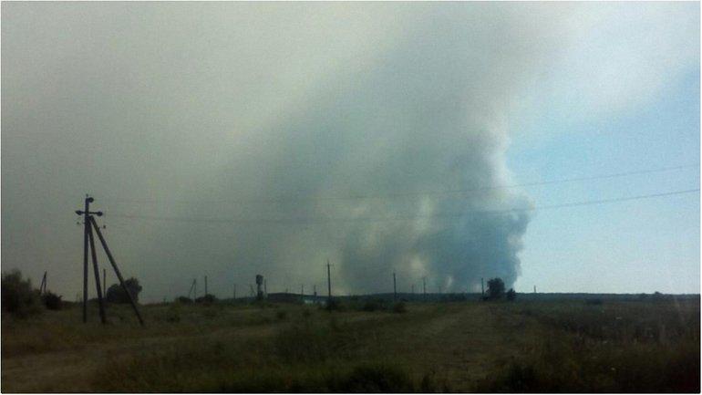 Так выглядит пожар на полигоне - фото 1