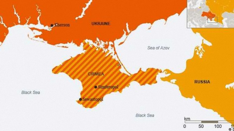 Теперь полуостров отмечен как временно оккупированная территория - фото 1