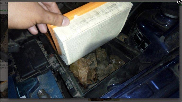 Украинка пыталась спрятать камни от пограничников - фото 1