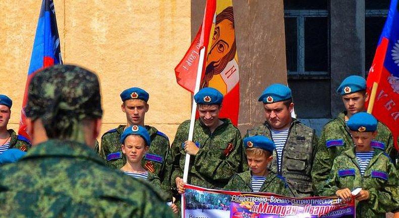 """Боевики """"ДНР"""" привлекли детей и устроили стрельбу в День ВДВ - фото 1"""