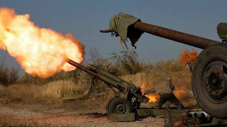 Террористы обстреливали позиции ВСУ из крупнокалиберной артиллерии - фото 1