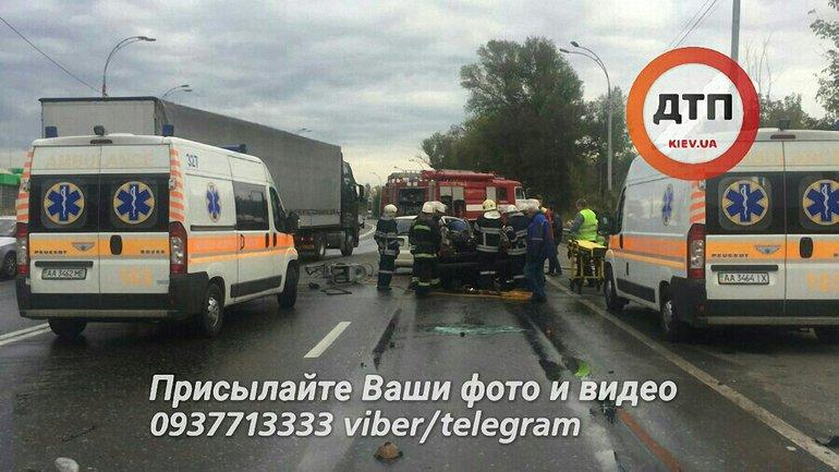 """На месте аварии работало несколько нарядов """"скорой"""" и спасатели - фото 1"""