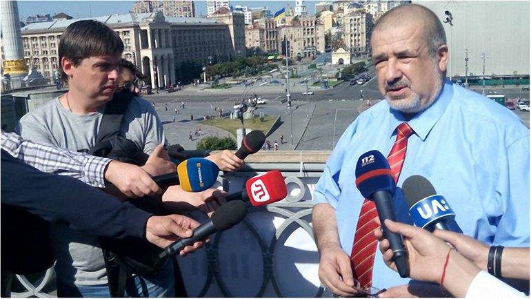 Чубаров на акции в поддержку Умерова в Киеве - фото 1
