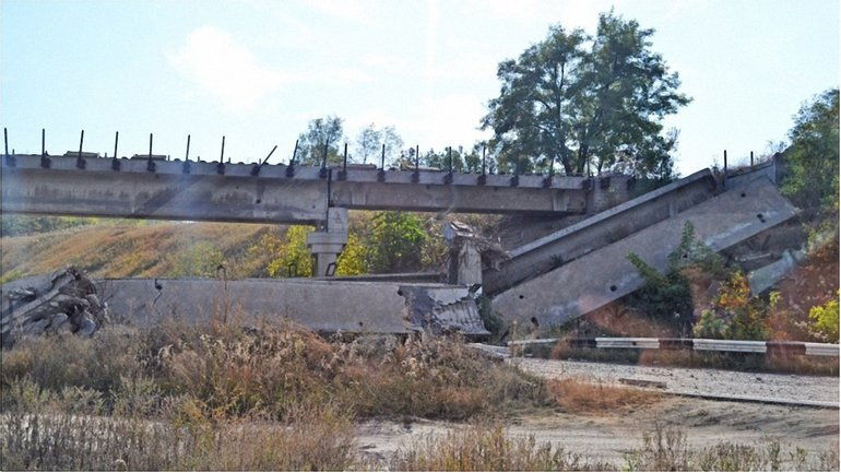 Мост на автостраде Енакиево – Шахтерск – Амвросиевка - фото 1