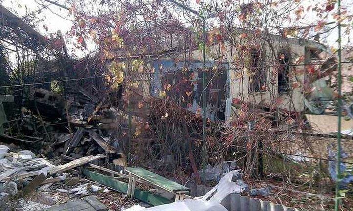 Боевики полностью уничтожили шесть домов в Водяном - фото 1