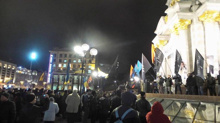 Лидер ОУН заявил, что действия его подчиненных будут направлены на Банковую в случае невыполнения требований - фото 1