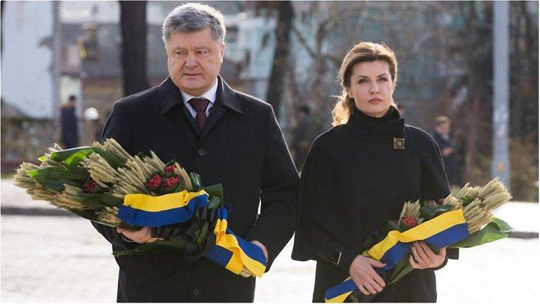 Порошенко с супругой приняли участие в памятных мероприятиях  - фото 1