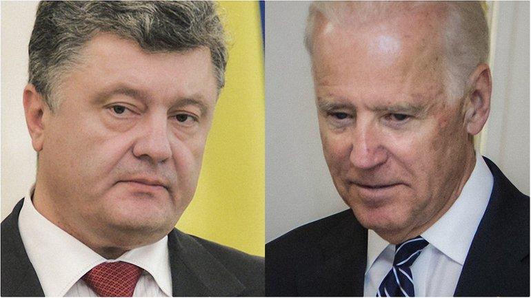 Порошенко и Байден обсудили санкции  - фото 1