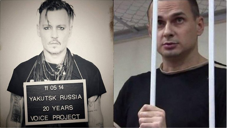 Депп поддержал Сенцова - фото 1