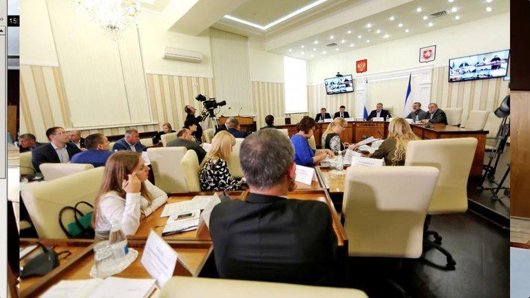 """В """"администрации"""" Аксенова послушали гимн Украины во время скайп-конференции с оккупантами - фото 1"""