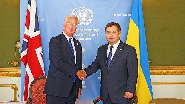 Степан Полторак и Майкл Фэллон договорились о развитии сотрудничества в оборонной сфере - фото 1