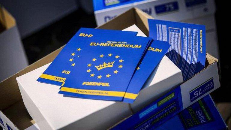 Никто не проверял подлинность подписей на референдуме в Голландии - фото 1
