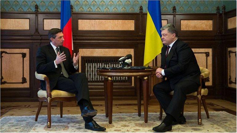 Президенты Украины и Словении провели переговоры в Киеве - фото 1