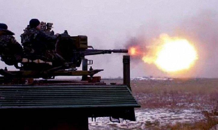 Оккупанты стреляли по бойцам ВСУ из зенитной установки - фото 1