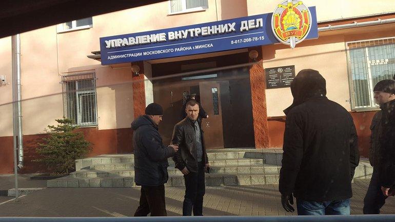 Кристину Бердинских милиционеры привезли в управление внутренних дел Минска - фото 1