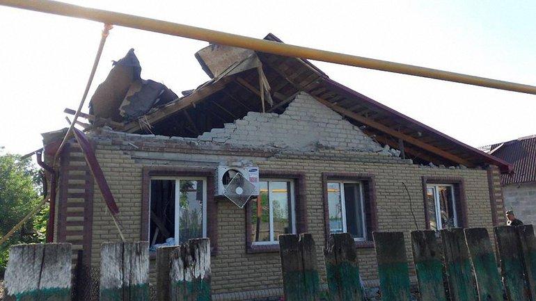 В поселке повреждены дома  - фото 1