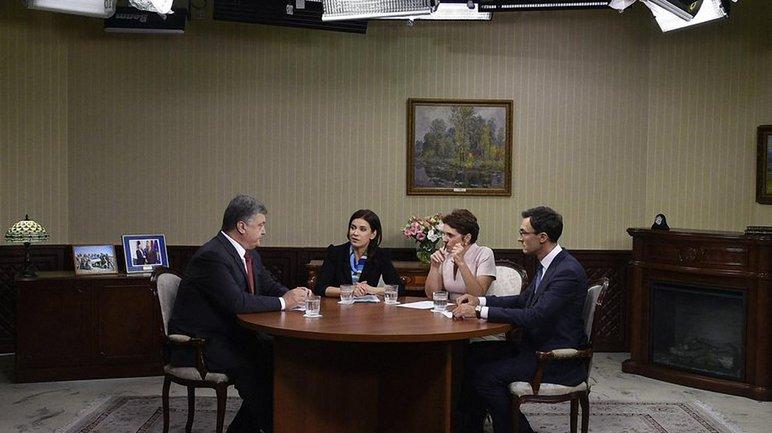 Интервью Порошенко в дружественном кругу лояльных журналистов - фото 1