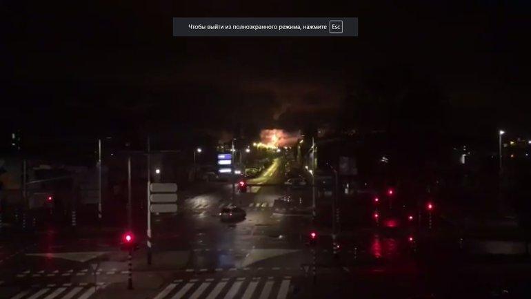 Пламя было видно из различных частей города - фото 1