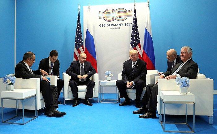 Путин и Трамп встретились в Гамбурге - фото 1