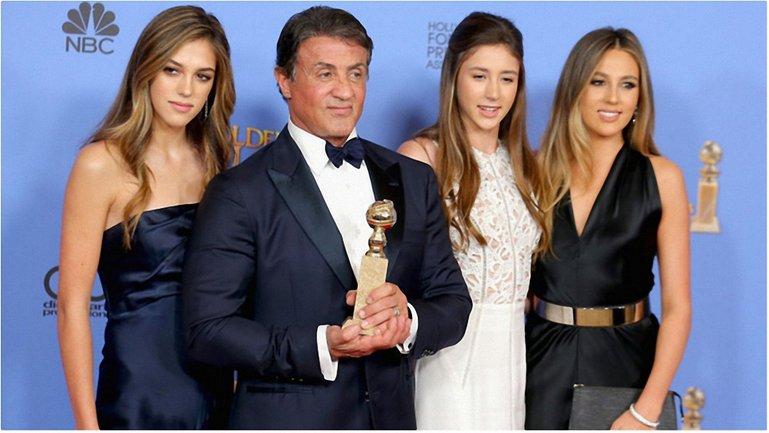 Сильвестр Сталлоне с дочками: фото - фото 1