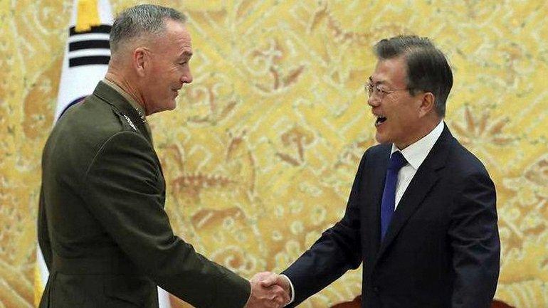 Начальников штабов ВС США генерал Джозеф Данфорд прибыл в Южную Корею - фото 1