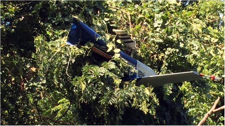 Крушение произошло неподалеку от гольф-клуба - фото 1