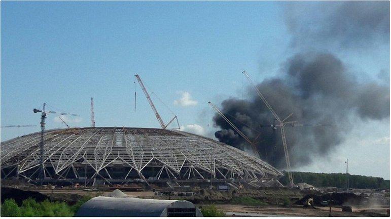 "Пожар на стадионе ""Самара Арена"" быстро потушили - фото 1"