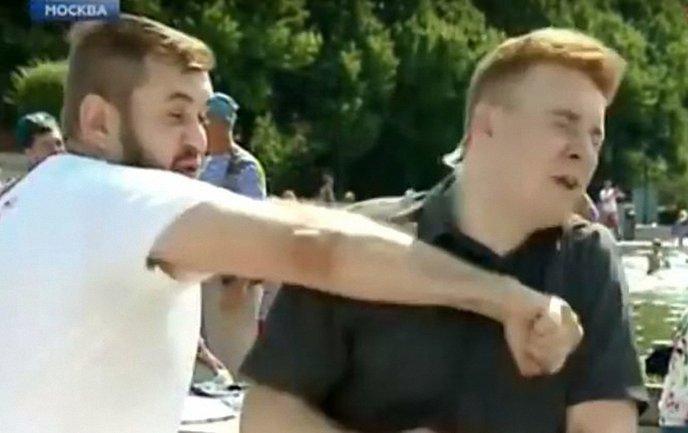 Орлов вмазал корреспонденту в прямом эфире - фото 1