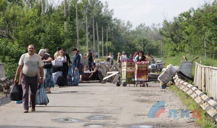 """Между Украиной и """"ЛНР"""" работает один пешеходный пункт пропуска - фото 1"""