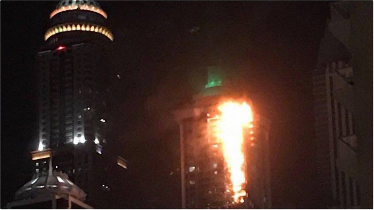 Пожар начался на 9 этаже - фото 1
