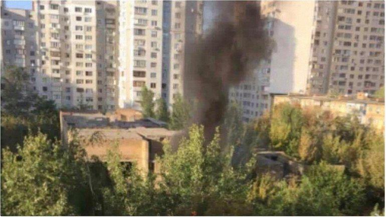 Пожар в Киеве - фото 1