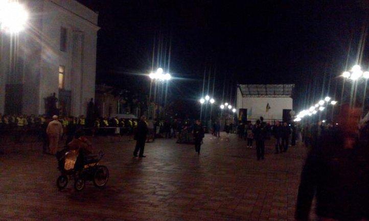 Протест у Верховной Рады теряет масштабы - фото 1