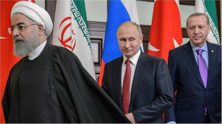 Хасан Роухани, Владимир Путин и Реджеп Эрдоган  - фото 1