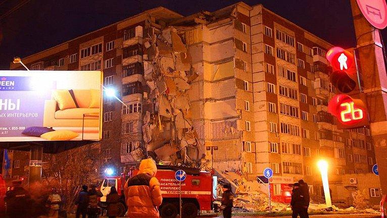 В Ижевске обвалились 9 этажей в многоэтажке  - фото 1