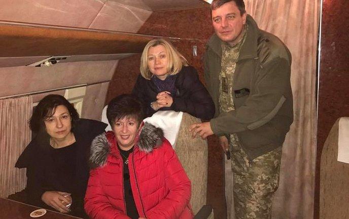 Геращенко и Лутковская полетели на обмен пленными - фото 1