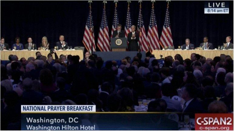 Тимошенко пришла на молитвенный завтрак в США - фото 1