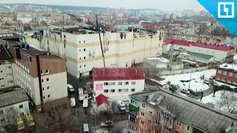 В Кемерово обвалилась крыша ТЦ - фото 1