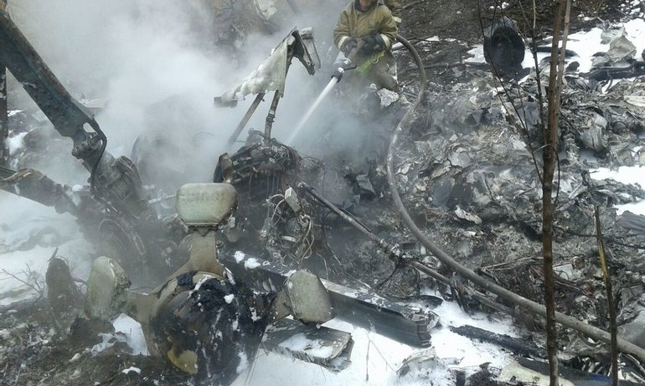 В Хабаровске разбился вертолет - фото 1