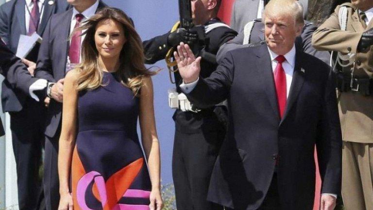 Мелания Трамп и Дональд Трамп - фото 1