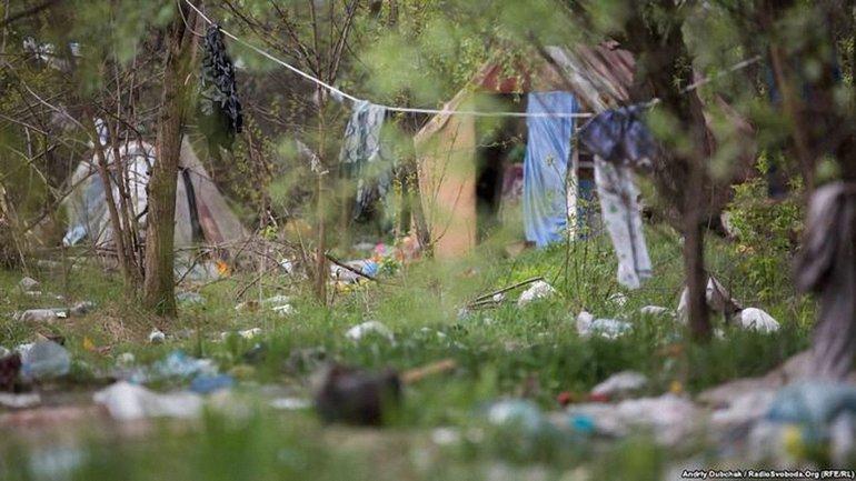 В Киеве разгромили еще один табор ромов - фото 1
