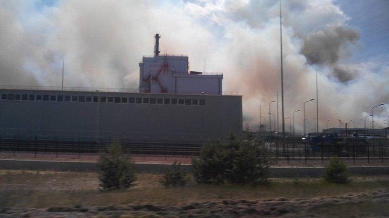 В Припяти прямо у АЭС горит 10 гектаров леса (ФОТО) - фото 1