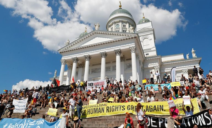 Митинг против встречи Трампа и Путина  - фото 1