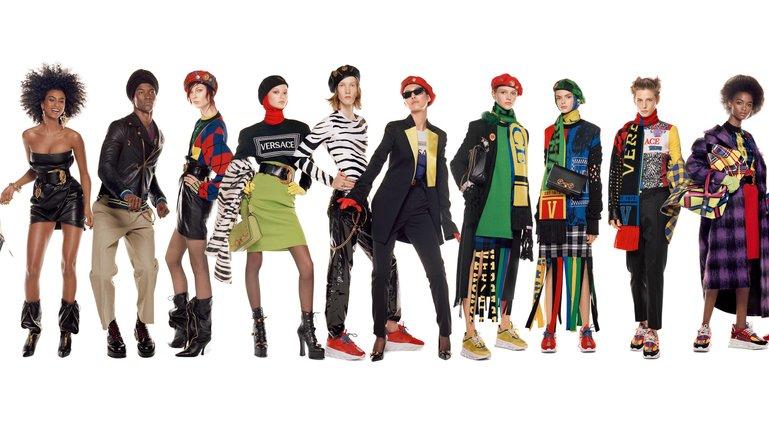 Versace сняли самую длинную фотографию в истории моды  - фото 1