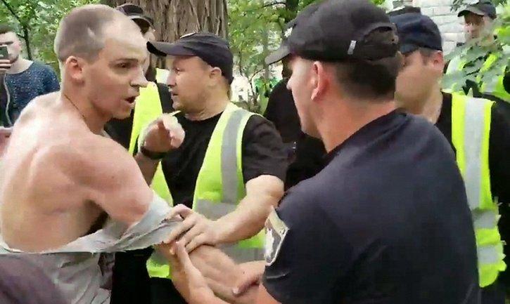 Полицейские задержали активистов Корчинского - фото 1